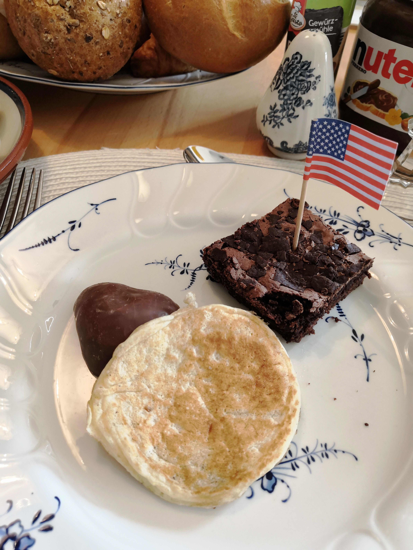 Pancake und Brownie