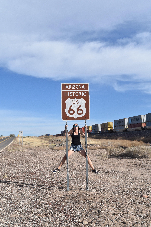 Route 66 Schild Fun