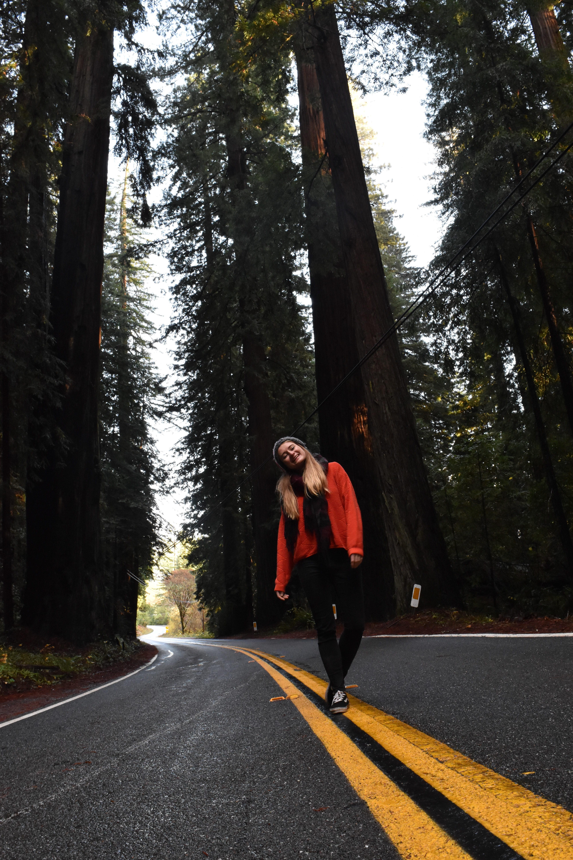Juli on the Street Redwoods