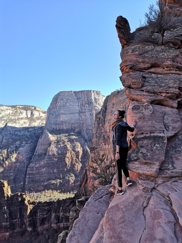 Aussicht beim Klettern - Zion