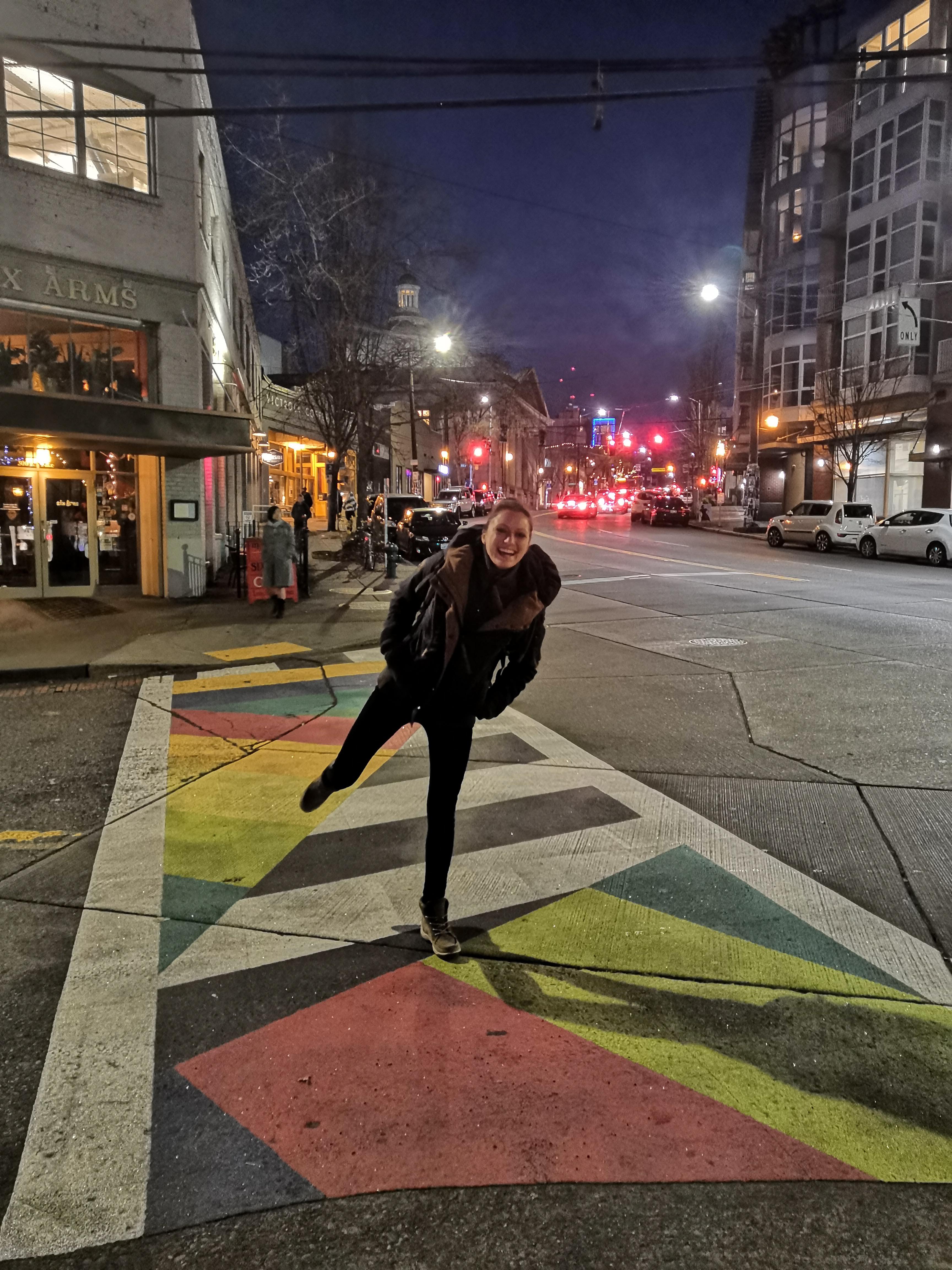 Bunte Zebrastreifen Seattle
